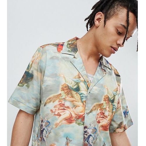 Reclaimed vintage inspired printed revere collar shirt - multi