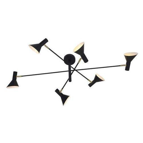 It's About RoMi Żyrandol Izmir 3-ramiona szer. 124 x wys. 39 cm, czarny / złoty akcent IZMIR/H6/B, IZMIR/H6/B
