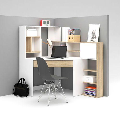 Function plus biurko narożne z regałem marki Tvilum