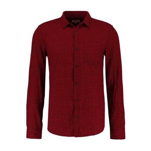 Q/S designed by EXTRA SLIM FIT Koszula dark red current check (4056523548938)