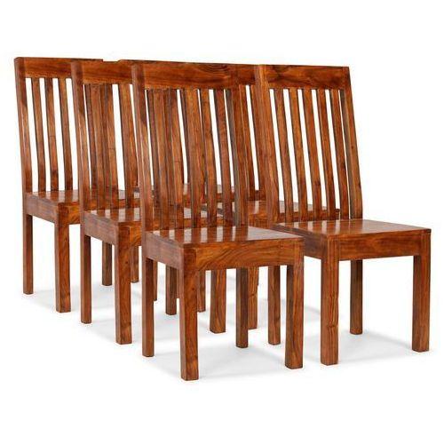 Krzesła z litego drewna, stylizowane na sheesham, 6 szt.