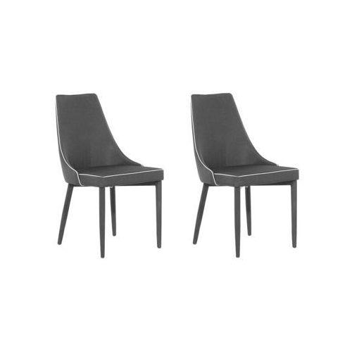 Beliani Zestaw do jadalni 2 krzesła czarne camino
