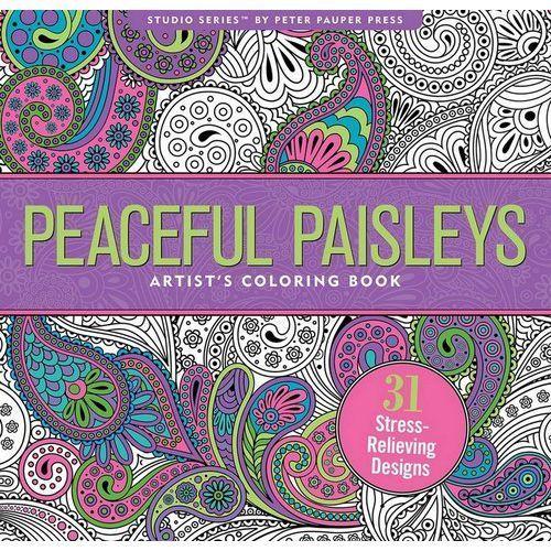 Kolorowanka artystyczna paisley marki Peter pauper press