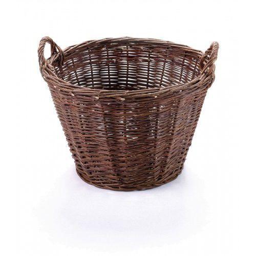 Kosz gospodarczy z ciemnej wikliny marki Wyroby z wikliny pph jan wnuk