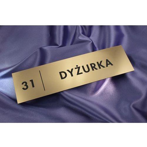 Grawernia.pl - grawerowanie i wycinanie laserem Szyldy dla szkoły i biura - 29x8cm - rogi prostokątne