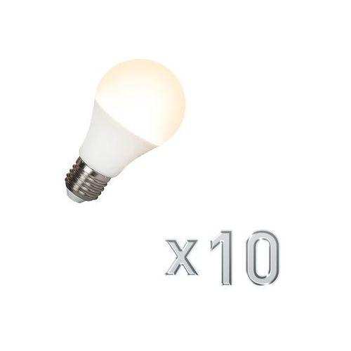 Calex Zestaw 10 zarówek led e27 240v 7w 510lm a60 sciemnialna