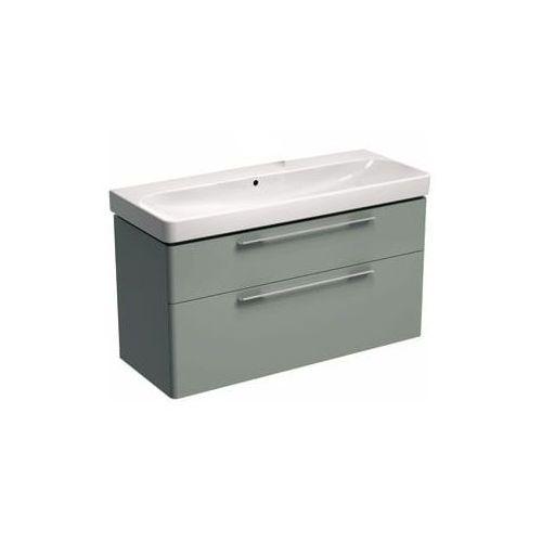 szafka + umywalka bez otworu na baterię traffic 120 platynowy połysk 89440-000+l91020000 marki Koło