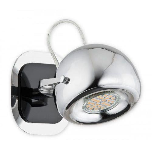Lemir Geos kinkiet / spot 1 pł. / chrom + czarny, dodaj produkt do koszyka i uzyskaj rabat -10% taniej!