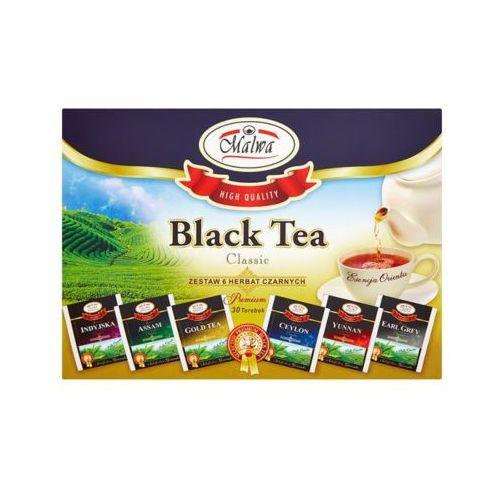 30x1,5g zestaw 6 herbat czarnych smakowych (30 torebek) marki Malwa