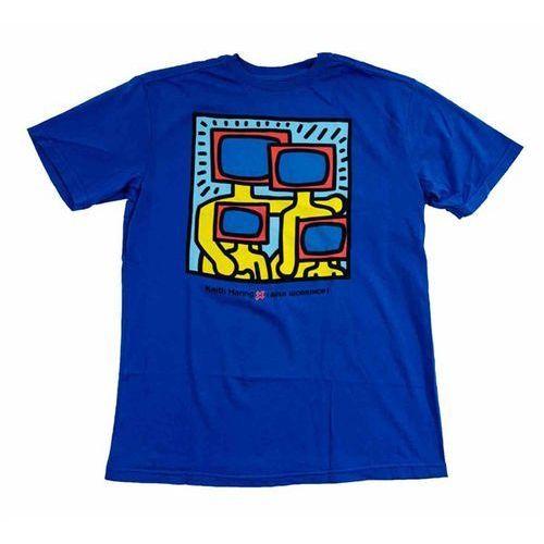 koszulka ALIEN WORKSHOP - Haring Tv Family Buzz Blue Modra (MODRA) rozmiar: L, kolor niebieski