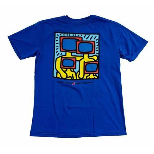 koszulka ALIEN WORKSHOP - Haring Tv Family Buzz Blue Modra (MODRA) rozmiar: M, kolor niebieski