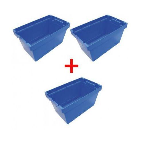 Skrzynka plastikowa gniazdoiwa 2+1 gratis, 490x300x260 mm marki B2b partner