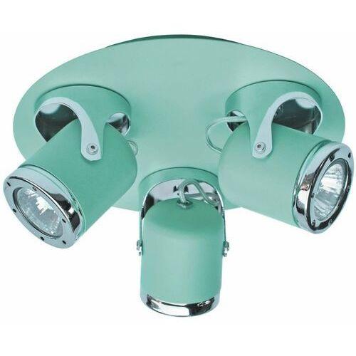 Rabalux Sufitowa lampa regulowana april 5035 metalowa oprawa reflektorki miętowe