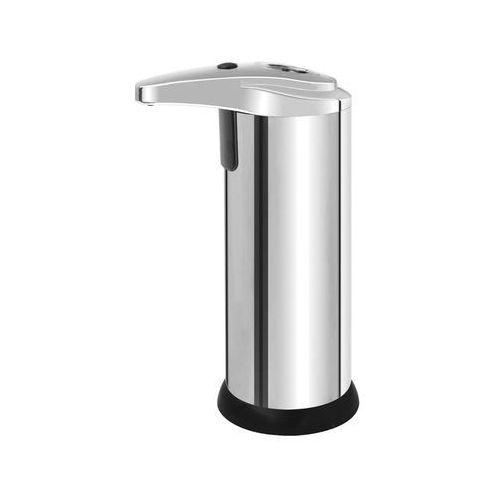 Automatyczny dozownik do mydła w płynie stojący as1 0,225 litra stal nierdzewna + plastik połysk marki Bisk