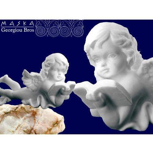 > Aniołek leżący czytający książkę -alabaster grecki