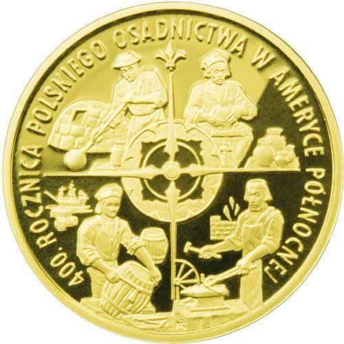 Nbp 100 zł - 400. rocznica polskiego osadnictwa w ameryce północnej - 2008