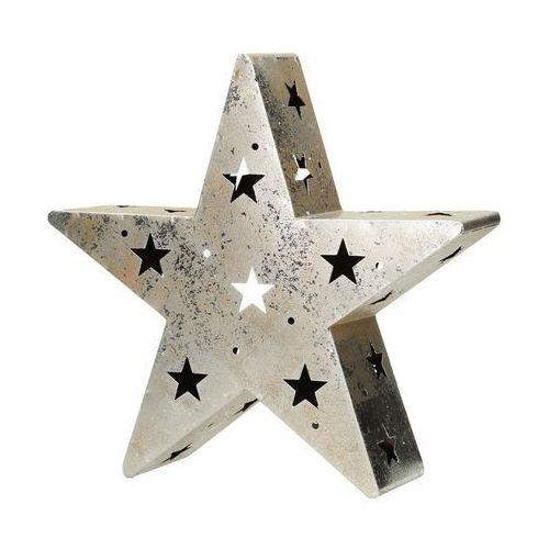 Dekoria  świecznik christmas star wys. 29,5cm, 30,5x8x29,5cm