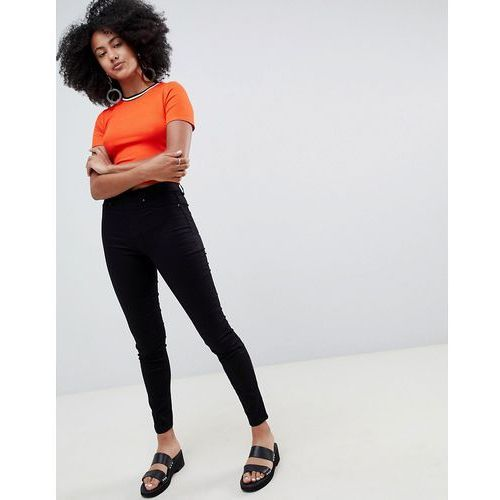 jegging with high waist in black - black marki New look
