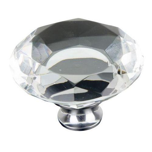 Gałka Schaffner Lea kryształowa okrągła fi 50 mm