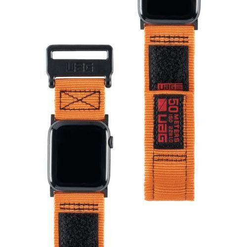 Urban Armor Gear UAG Active Strap Materiałowy Pasek do Apple Watch 44 mm / 42 mm (Orange), kolor pomarańczowy