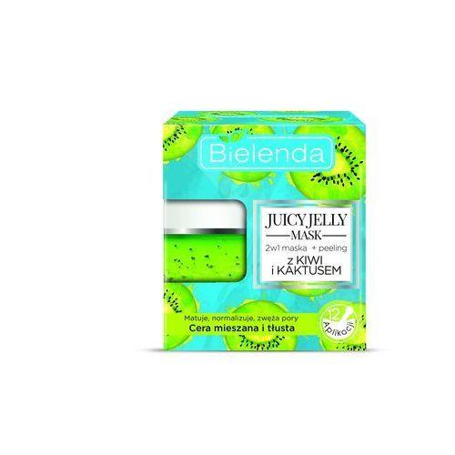 Bielenda Juicy Jelly Mask 2w1 Oczyszczająca Maska + Peeling z Kiwi i Kaktusem do cery mieszanej i tłustej 50g - Kiwi i Kaktus - do cery mieszanej, 5902169030087