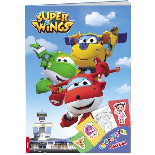 Ameet Super wings kolorowanka i naklejki - od 24,99zł darmowa dostawa kiosk ruchu (9788325327613)