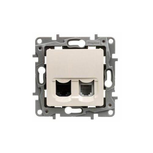 Legrand Niloe Gniazdo telefon + komputer 1xRJ12+RJ45 krem 764670