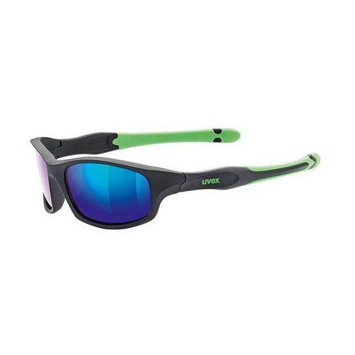 Okulary UVEX SPORTSTYLE 507 black mat green (2010000506509)
