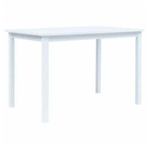 Biały stół z drewna kauczukowego – razel marki Elior