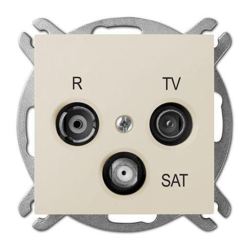 Sentia Gniazdo antenowe RD/TV/SAT końcowe kremowe 1453-11 ELEKTRO-PLAST NASIELSK