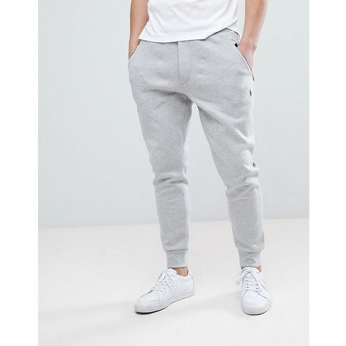 Polo ralph lauren slim fit tech cuffed jogger polo player in grey marl - grey