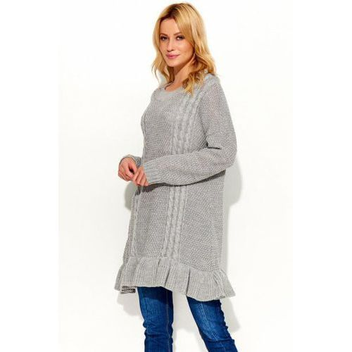 Sweter Tunika Model S48 Grey, kolor szary