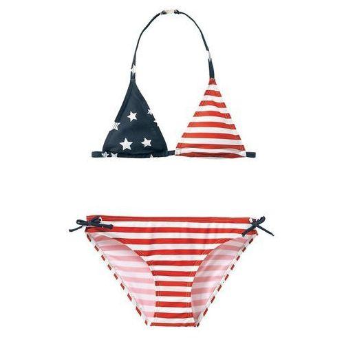 Strój kąpielowy dwuczęściowy z nadrukiem flagi USA 10-16 lat
