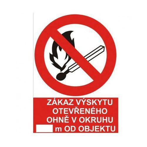 Zakaz używania otwartego ognia w promieniu..... m od obiektu marki B2b partner
