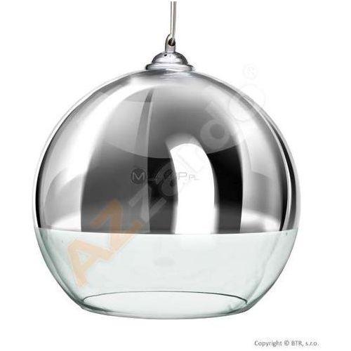 Azzardo Lampa wisząca silver ball 18 lp5034-s  szklana oprawa zwis kula chrom przezroczysty