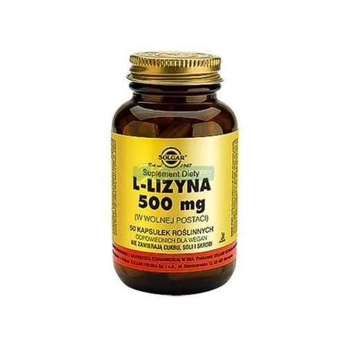 Solgar l-lizyna 50 kapsułek 500 mg