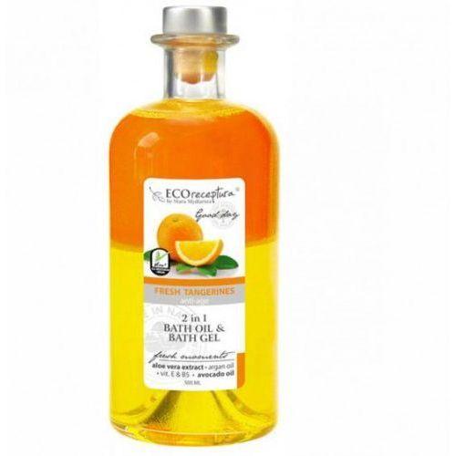 ECO RECEPTURA Fresh Tangerines - dwufazowy olejek do kąpieli 500ml karafka, 27755