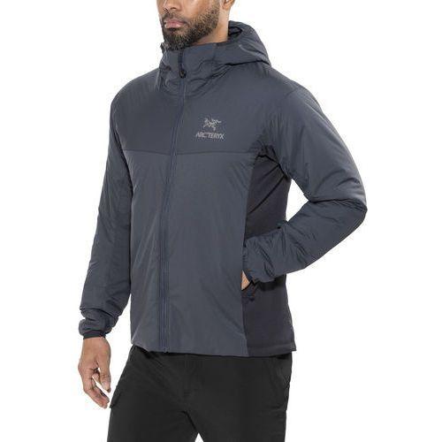 atom lt kurtka mężczyźni szary/czarny xl 2019 kurtki do biegania marki Arc'teryx