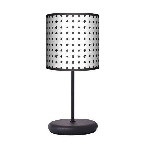 Lampa stojąca eko - czarne kropki marki Fotolampy
