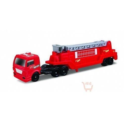 highway haulers – ciężarówka z naczepą (wóz drabiniasty) kolor czerwony marki Maisto