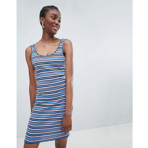 New Look Stripe Bodycon Dress - Blue, kolor niebieski