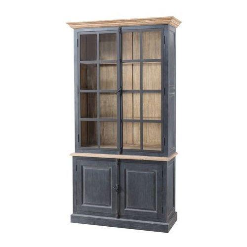 kredens gordes 110x46x230 old black & natural, 110 × 46 × 230 cm marki Dekoria