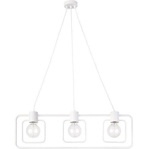 LAMPA wisząca FREDO KWADRAT 31512 Sigma metalowa OPRAWA geometryczny ZWIS loft biały, 31512