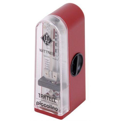 Wittner 890141 903052 Piccolino metronom mechaniczny bez akcentu, kolor czerwony rubin