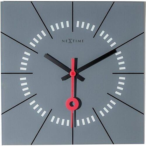 Zegar ścienny stazione szary marki Nextime