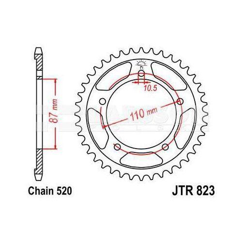 Zębatka tylna stalowa JT 823-39, 39Z, rozmiar 520 2300414 Suzuki GS 500