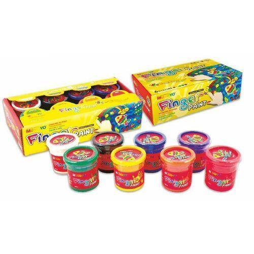Farby do malowania palcami 8 kolorów 100 ml - mungyo marki Tadeo trading