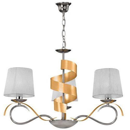 Candellux Lampa oprawa wisząca zwis denis 3x40w e14 chrom/złoty 33-23421 (5906714823421)
