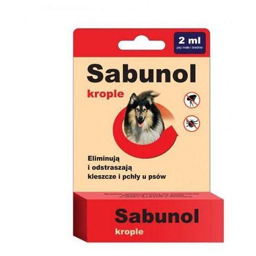 DERMAPHARM Sabunol krople przeciw pchłom i kleszczom dla psów o wadze 10-20kg 2ml
