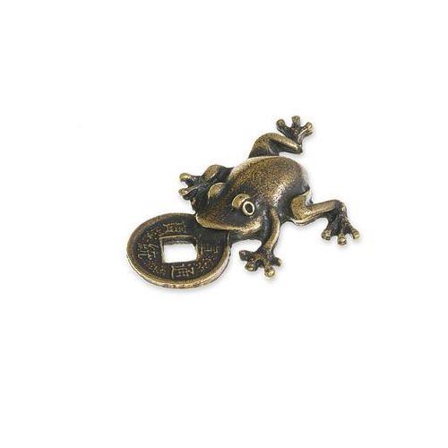 Figurka żabka fortuny symbole chińskie kolor stare złoto zwierzęta feng shui marki Jubileo.pl